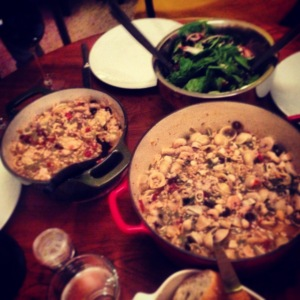 seafood and chicken brodetto